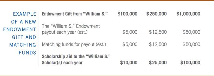 endowment match